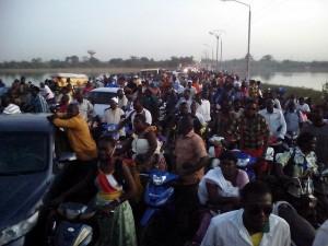Les manifestants ont perturber la circulation sur le pont Martin Luther King